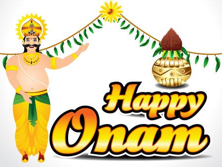 pookolam: Happy Onam Background Vector illustration