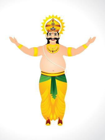 pookolam: Vector illustration of King Mahabali