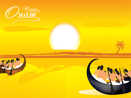 onam: Onam Festival Background Vector illustration