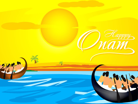 kerala culture: Happy Onam Background vetor illustration