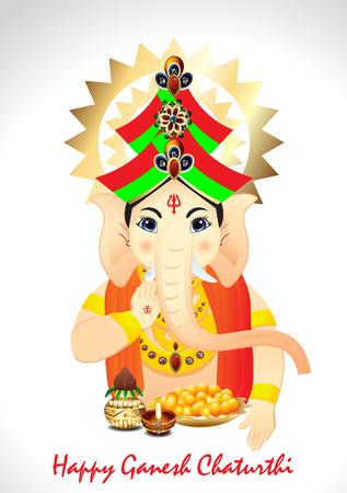 Happy Ganesh Chaturthi Background vector illustration Vector