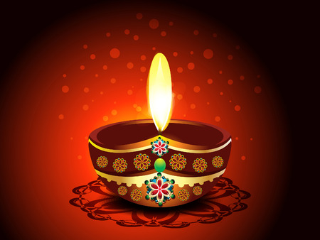 deepak: Diwali Deepak Background  Illustration