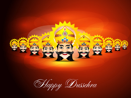 Happy Dussehra Background illustration Illustration
