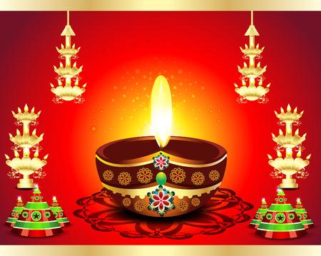 deepak: Traditional Diwali Background illustration