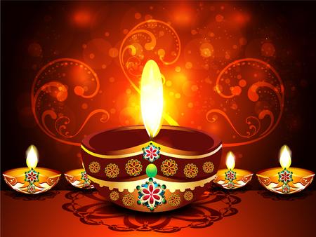 deepak: Abstract Diwali Festival Background illustration
