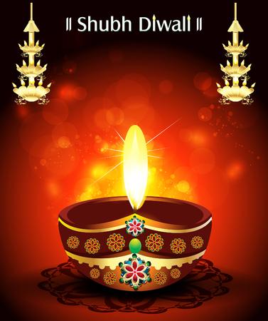 shubh diwali: Shubh diwali Deepak Background illustartion