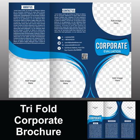 flayer:  Tri Fold Corporate Brochure vector illustration  Illustration