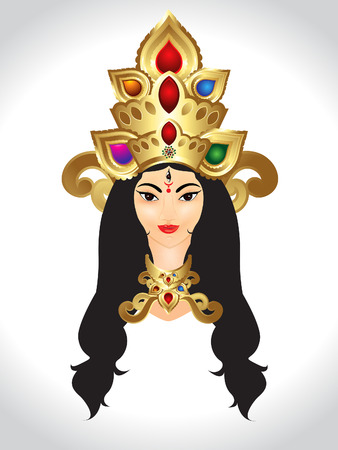 3d om: Shubh Navratri God Durga vector Illustration