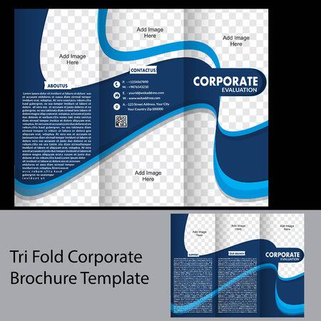 poster template: tri fold corporate brochure template vetor illutsration