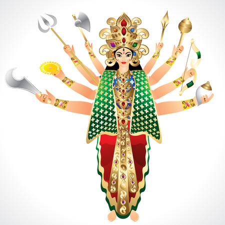 3d om: Vector Illustration godess Durga