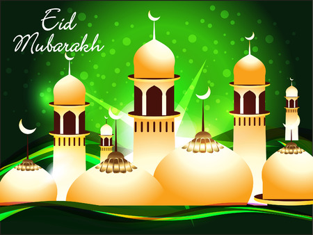chand: abstract eid mubarakh background vector illustration