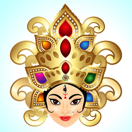 kali: Shubh Navratri Background vector illustration
