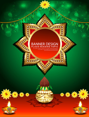 fortune flower: abstract Holiday Background vector illustration