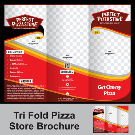 folleto pizzería tríptico