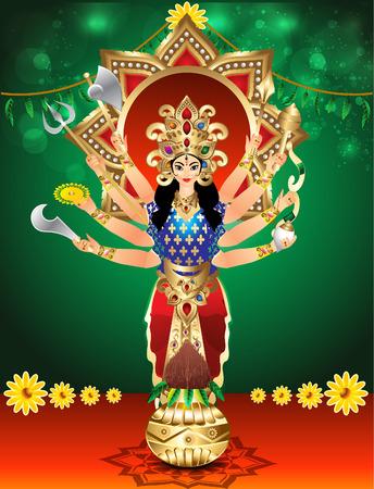 inmersion: ilustraci�n vectorial diosa Durga