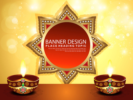 abstract diwali background banner Vector