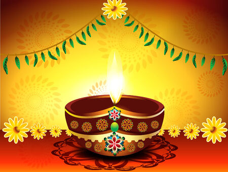 abstract Diwali Festival Background vector illustration