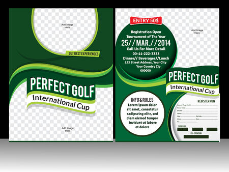 perfect golf flyer template