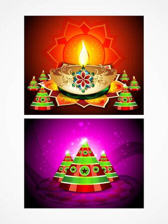 deepak: deepak diwali background set illustration