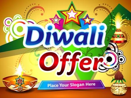 god box: diwali offer background illustration