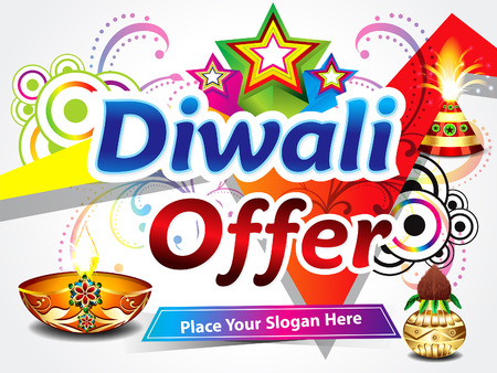 diwali sale background illustration Vector
