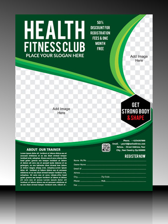 fitness center: gym flyer template illustration Illustration