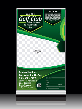 roll up: Golf Roll up Banner illustration