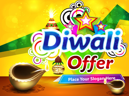 colorful diwali sale background vector illustration Vector
