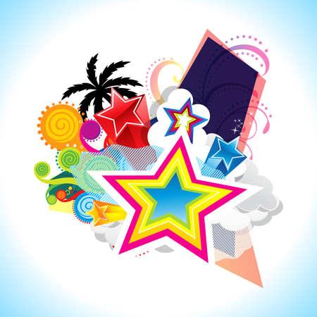 colorful explpode background vector illustration