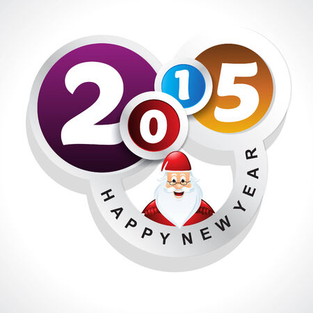 new year background with santa claus vector illustration Vector