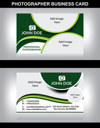 hojas membretadas: fotógrafo tarjeta de visita ilustración vectorial