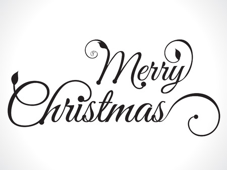 christmas ornament: merry christmas text background vector illustration