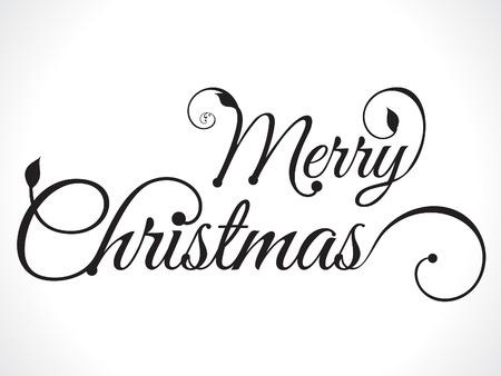 merry christmas text: Merry Christmas Text ilustraci�n vectorial