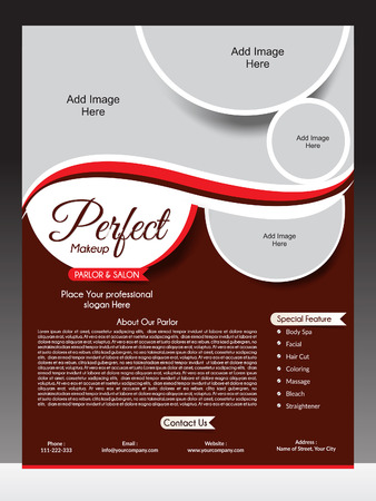 spas: perfect parlor flyer template vector illustration