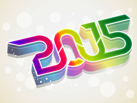 shaddow: happy new year three d background vector illustration Illustration