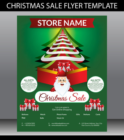 Christmas Sale Flyer Template illustration Illustration