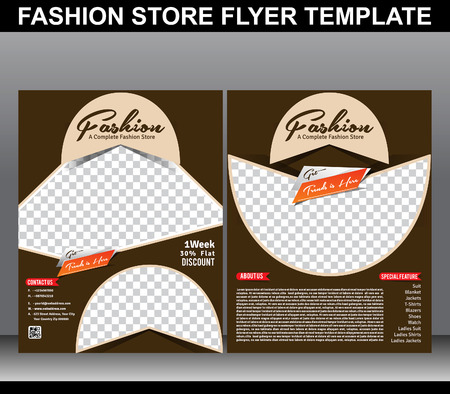 fashion store flyer template vector illustration Vector