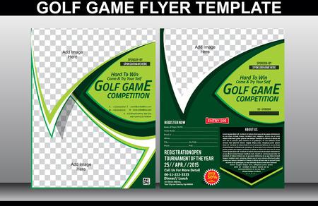 ゴルフ ゲーム チラシや雑誌の表紙のテンプレート ベクトル イラスト
