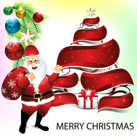 wit: merry christmas background wit santa claus Illustration