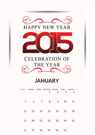 calendar background: artistic happy new year calendar background vector illustration