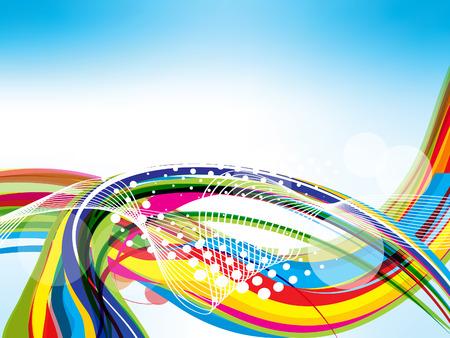illustraton: vector colorful wave background illustraton Illustration