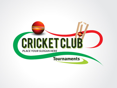 wicket: Cricket Game Text Background vector illustration