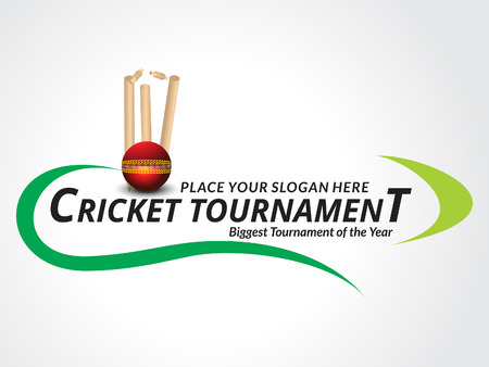 Cricket Trournament Banner Background vector illustration