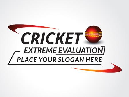 wicket: Cricket Trournament Text Background vector illustration