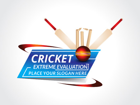 cricket stump: abstract crciket background with bat vector illustration