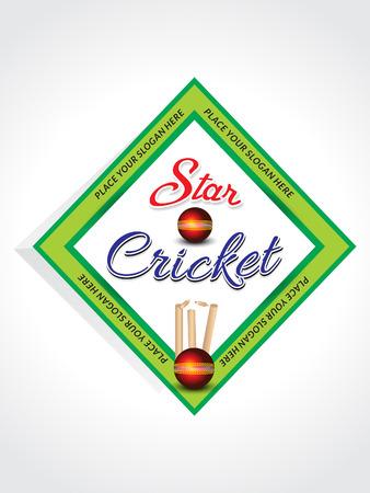 cricket ball: cricket background with cricket ball vector illustration