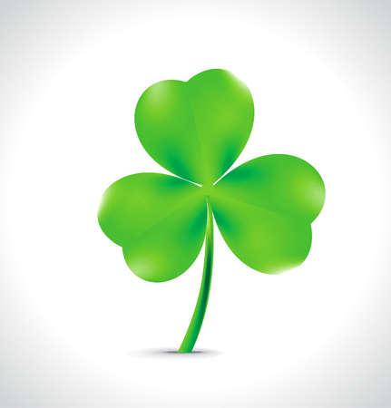 four leafed: Saint Patricks green clover background vector illustration