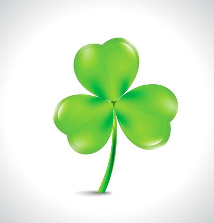 Saint Patricks green clover background vector illustration