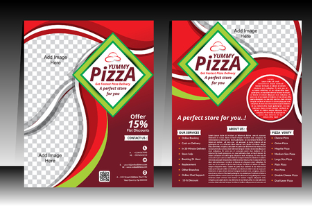 Piizza Flyer design template vector illustration Vector
