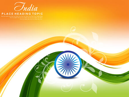peace flag: indian republic day background with floral vector illustration Illustration